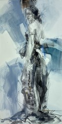 In My Soul II by Anna Razumovskaya - Original Painting on Stretched Canvas sized 18x36 inches. Available from Whitewall Galleries